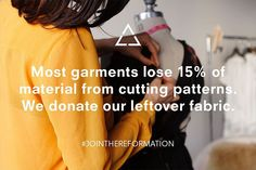 Eco Tip: Most garments lose 15% of material from cutting patterns. #EarthDay