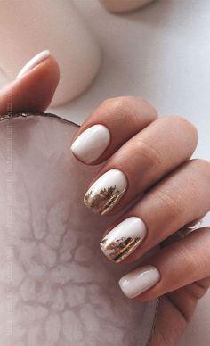 Classy Nail Designs, Short Nail Designs, Nail Art Designs, Foil Nail Art, Foil Nails, May Nails, Hair And Nails, Classy Nails, Stylish Nails