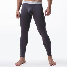 45abea61e46520 Mens Long Johns Underwear Solid Color Male Leggings Hombre Sexy Thermal  Underpantsheavengifs. Pajama BottomsFabric ...