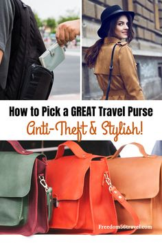 Absolutely the best travel bags for women! Whether that is a crossbody, a purse backpack, a sling bag or an anti-theft purse, it has to be stylish, cute and only the best! It has to hold your essentials and it has to be fashionable. See all the best ones here! #antitheft #crossbody #stylish #cute #forwomen #best #backpack #fashionable