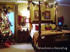 Christmas Bedroom....yes Please! I Used To Decorate EVERY Room.