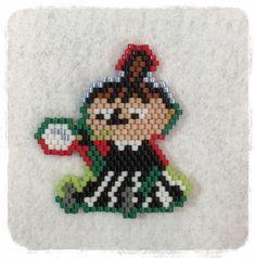リトルミイ.シャボン玉 Fuse Beads, Hama Beads, Bead Weaving, Yoshi, Stitch, Beading, Earrings, Needlepoint, Ear Rings