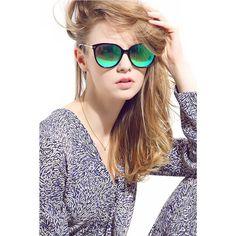 c53c2d896a5 Diamond Candy Classic Polarized Round Sunglasses for Women Mirrored Retro  Style
