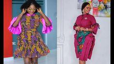 Short Ankara Dresses, Ankara Skirt And Blouse, African Print Dresses, African Dress, Ankara Styles, African Fashion, Sleeve Styles, Couture, Summer Dresses