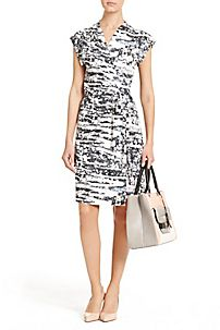 DVF | A short sleeve take on our signature wrap dress, the Mindy is perfect for any occasion. http://on.dvf.com/192DcmT