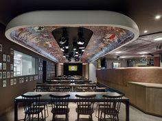 1893 - VfB Stuttgart Club restaurant; Interior design by Ippolito Fleitz Group