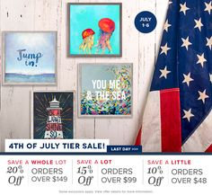 Super savings end tonight! Discover fresh art for summer and save up to 20% off your entire purchase!