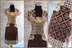 Tenun Maumere Lawas + lace prada halus rapat + batik kawung + lining tricot + Furing. By Gendhis Batik
