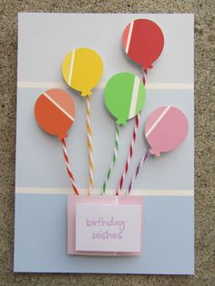 paint chip card, balloon punch, twine by Nancy Domnauer