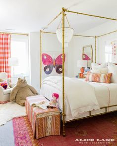 Coastal Contemporary – Alice Lane Home Interior Design,girl bedroom decor with canopy bed Bedroom Decor, Home Interior Design, Room Dimensions, Room, Kid Room Decor, Girl Room, Coastal Bedrooms, Home Collections, Alice Lane Home