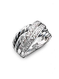 David Yurman - Diamond Crossover Ring