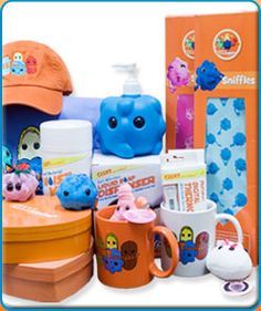 GIANTmicrobes.  In case you know anyone that could use a plush version of their favorite germ.