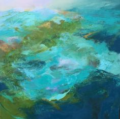 Only the Ocean 40 x 40 oil on canvas by Bett Huggins