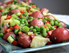 Salada de Batata com Ervilhas, Aipo e Pimentão