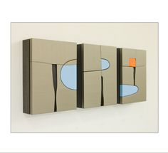 "Pascal Pierme, ""Bloc 111"", 2011, 12 x 31 in., mixed media"