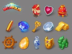 Megapolis by Social Quantum on Dribbble Game Icon Design, Wild West Games, Heart Of Vegas, Magic Bottles, Pixel Art Games, Mermaid Drawings, Game Props, Drawing Games, Prop Design