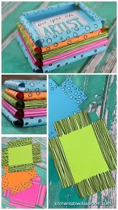 Photo Frames For Kids, Paper Picture Frames, Unique Picture Frames, Photo Frames Diy, Photo Frame Ideas, Diy Photo Frame Cardboard, Photo Frame Crafts, Paper Photo Frame Diy, Cardboard Frames