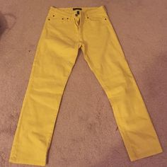 Ralph Lauren Jeans Yellow Rakph Layren jeans. They're ankle length. Very cute and super trendy :-) Jeans Ankle & Cropped