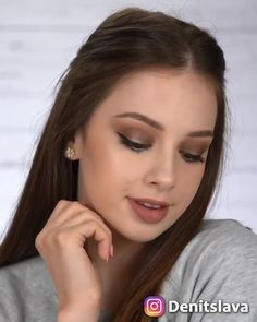 I filmed this video before getting my bangs 😁😁. and brown smokey eye is never a bad idea 😉💖. Makeup tutorial by Denitslava makeup, I filmed this video before getting my bangs 😁😁. and brown smokey eye is never a bad idea 😉💖 Denitslava Makeup, Makeup Eye Looks, Makeup Ideas, Makeup Trends, Makeup Inspo, Nail Ideas, Beauty Trends, Easy Makeup, Hair And Makeup