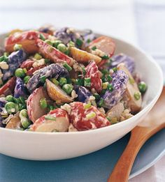 Red white and blue food | Red, White, and Blue Potato Salad Recipe: Bon Appétit