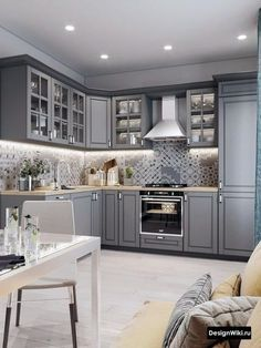 52 kitchen flooring ideas for your perfect kitchen remodel 48 « Home Design Grey Kitchen Designs, Luxury Kitchen Design, Kitchen Room Design, Home Decor Kitchen, Interior Design Kitchen, Kitchen Ideas, Simple Bedroom Decor, Kitchen Cabinet Styles, Cuisines Design