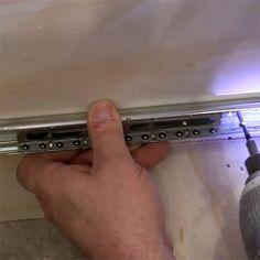 HOME DZINE Home DIY   Secret to easy mount of ball-bearing drawer runners