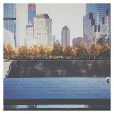 The impressive and well renowned 9/11 memorial never fails to impress it's visitors... especially during beautiful Autumn/Fall in NYC // #NYC #worldtradecenter #memorial #landscapearchitecture #michaelarad #design #autumn #fall #architecture #manhattan 📷@giulia_pa2015