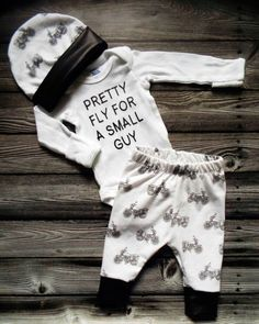 Pretty Fly for a Small Guy, Newborn Set, Coming Home Outfit, Motorcycle by PineyWoodsBoutique on Etsy https://www.etsy.com/listing/267128457/pretty-fly-for-a-small-guy-newborn-set