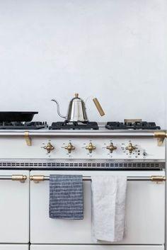 A white lacanche range cooker