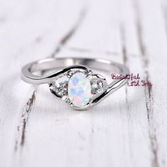 White Opal Ring Opal Ring Silver Womens Wedding Band Womens Opal Wedding Ring Band Opal Ring Opal Engagement Ring Promise Ring for Her Schmuck White Opal Ring, Silver Opal Ring, Silver Rings, Sterling Silver, Topaz Ring, 925 Silver, Opal Promise Ring, Promise Rings For Her, Opal Wedding Rings