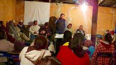 En el evento el legislador hizo entrega de cobijas a más de un centenar de habitantes del corazón de la meseta purépecha