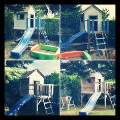 Stelzenhaus, neu gestrichen, hellgrau, blau; Grey, Projects