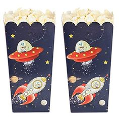Ginger Ray Spaceship & Robot Popcorn Treat Boxes - Space Adventure Party