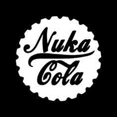 """Fallout Nuka Cola Logo 6"""" White Vinyl Car Truck Decal Sticker Video Games Awesome Cool Funny PS3 XBOX Fun Fallout Logo, Fallout Nuka Cola, Fallout Art, Stencil Templates, Stencils, Vinyl Art, Vinyl Decals, Glass Engraving, Engraving Ideas"""