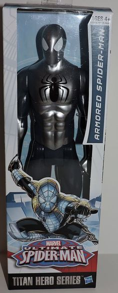 2014 MARVEL TITAN HERO SERIES ARMORED SPIDER-MAN POSABLE 12 INCH ACTION FIGURE in Toys & Hobbies | eBay