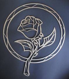 beauty and the beast enchanted rose stained glass - Google Search
