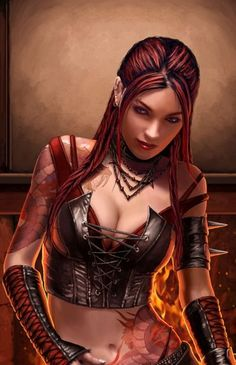dungeons and dragons female character portraits - Google Search