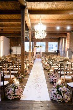 Industrial chic wedding arch ideas