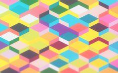 Geometric Blurred Color Shapes Wallpaper | Supercolortuts