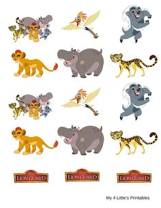 The Lion Guard printables. Instant by My4LittlesPrintables