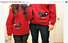 Sale US FREE SHIPPING Mickey Mouse Couple Sweatshirts on Etsy, $38.95