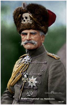 Colorized photograph of Generalfeldmarschall August von Mackensen  (6 December 1849 – 8 November 1945), WWI