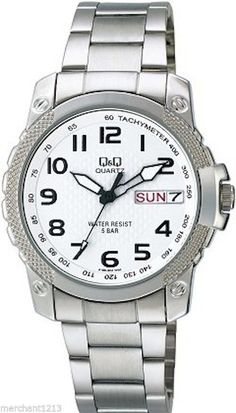 Q&Q by Citizen A166-204Y Men's Watch Day/Date White Dial
