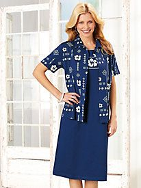 Sara Morgan™ South Seas 2-Pc. Dress Set