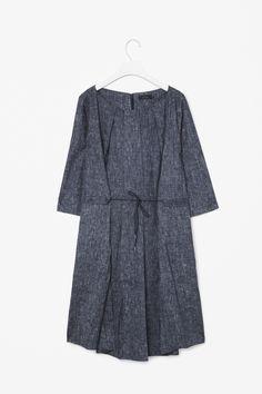 Linen print dress