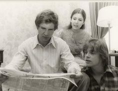 Rare photo of the cast of Star Wars, original trilogy.
