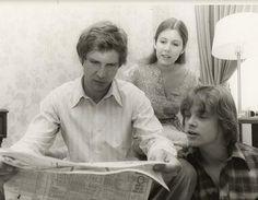 Rare photo of the cast of Star Wars, original trilogy.