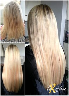 Ultrasonic cold fusion hair extensions in 18 black and off black fabulous half head of mixed blonde russian remy hair extensions lasting 3 4 months pmusecretfo Gallery
