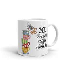 Items similar to Coffee Cups Designer Coffee Mug OCD on Etsy Coffee Coffee, Coffee Time, Coffee Cups, Vending Machines, Small Shops, Ocd, Shopping Mall, Small Businesses, Cyber