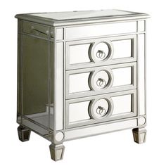 Found it at Wayfair - Mirrored 3 Drawer Accent Table http://www.wayfair.com/daily-sales/p/Tax-Refund-Refresh%3A-Investments-for-Less-Mirrored-3-Drawer-Accent-Table~MNQ1487~E19484.html?refid=SBP.rBAZEVUhfqk4KmcRF9ZnAo7jRoq8dEGZiWnmhaPGSH4